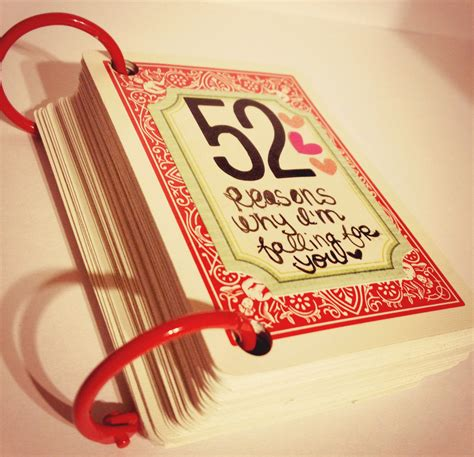 Handmade Birthday Gifts For Him - diy gifts 52 things i about you sendoutcards