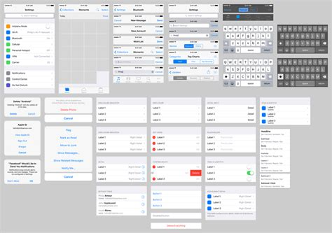 ios photoshop template free ios 9 gui kits templates