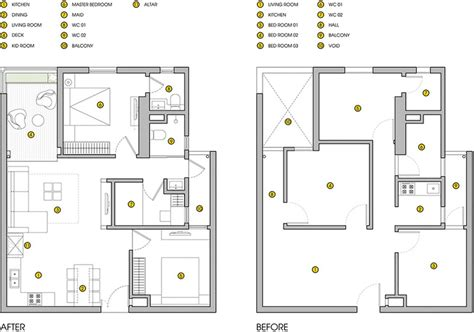 lighting floor plan ht apartment in hanoi a small space for five
