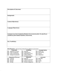 sle lesson plan format 8 exles in word pdf