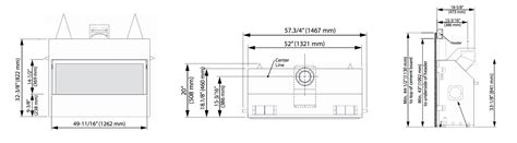 dimensions of a fireplace gas fireplace dimensions plan fireplaces