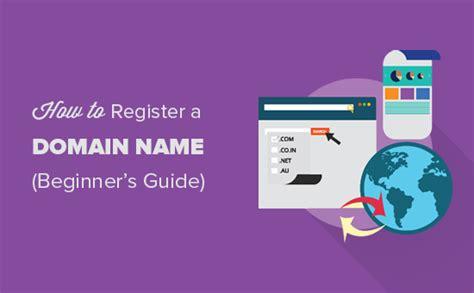 properly register  domain