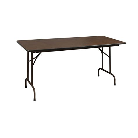 The Heavy Table by Heavy Duty Used Folding Table 24x48 Walnut