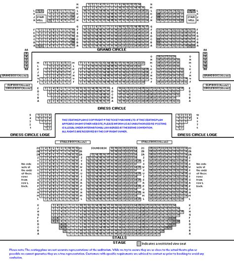 opera house seating plan manchester opera house manchester seating plan stalls escortsea