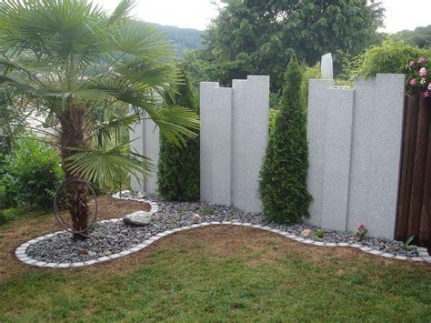 terrasse zeichnen sichtschutz granitstelen sichtschutz