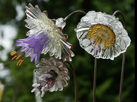 glass flowers for garden something mike s glass flowers