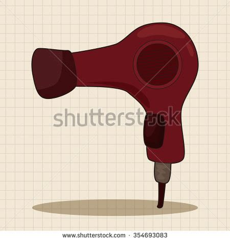 hair products theme hair dryer stock illustration