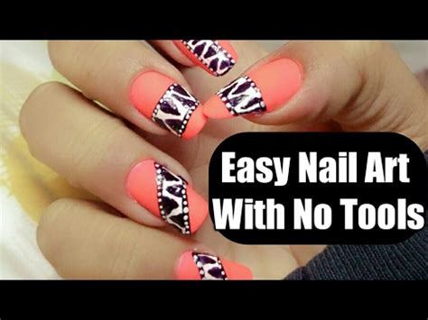 nail art tutorial easy no tools super easy nail art for beginners with no tools nail art