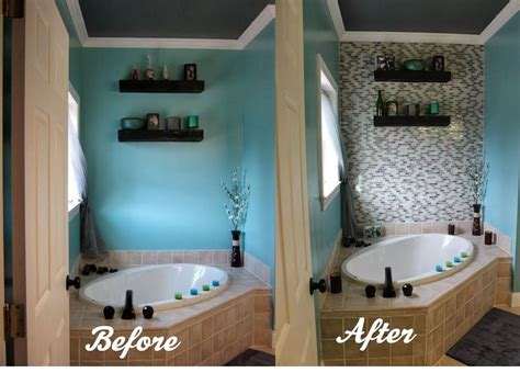 diy bathroom tile ideas hometalk diy glass tile accent wall in master bathroom