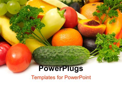 powerpoint templates vegetables powerpoint template fresh and healthy fruits and