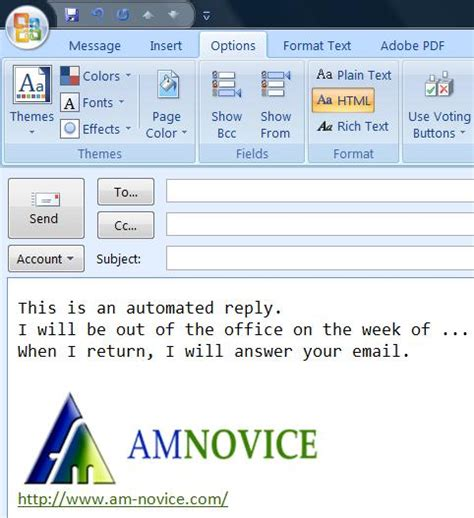 out of office mail template how to set up an out of office reply with microsoft outlook