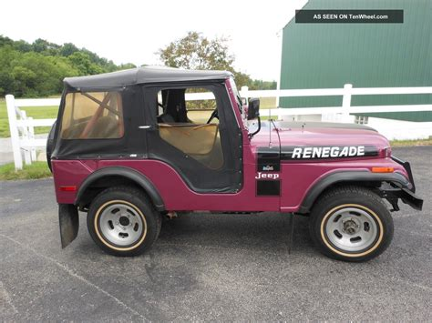 purple jeep renegade 1974 jeep renegade 2 owner 41k garage kept recent
