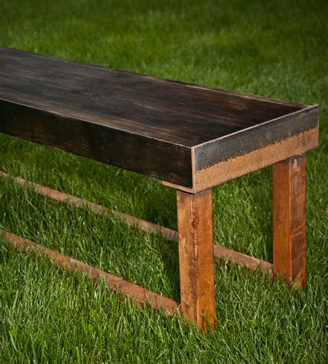 wood and metal benches reclaimed wood metal bench home furniture a r busch