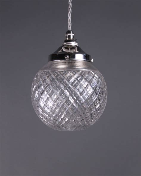 Pendant Light With Crystals Cut Pendant Light Fritz Fryer