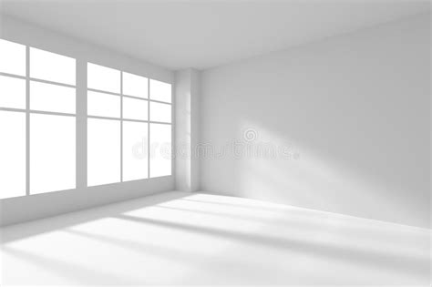 white empty room  windows  sunlight stock
