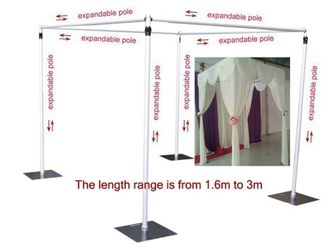 Chuppah Dimensions Aliexpress Com Buy Wedding Square Canopy Chuppah Arbor Drape Stand Wedding Decoration Wedding