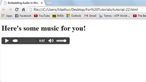 html tutorial embed video html tutorial embedding audio in web pages youtube