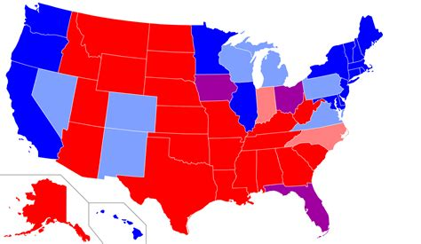 state color states and blue states