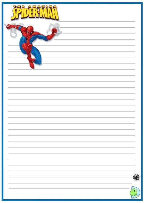 How To Make Writing Paper - free spider writing paper coloring pages