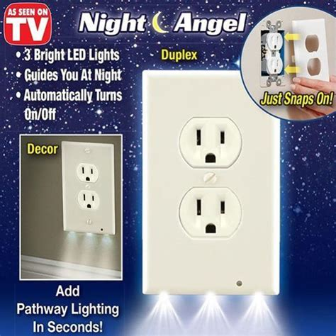 hallway light no outlet 3 led decor light cover wall outlet
