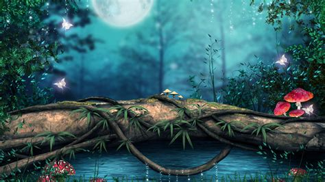 wallpaper 4k photoshop rendered fantasy forest wallpaper in 4k 4k uhdtv