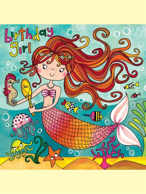 Mermaid Birthday Card Jig50 Birthday Girl Mermaid Jigsaw Cards Rachel