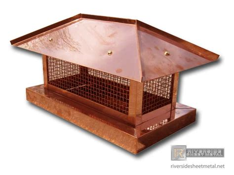 Fireplace Roof Caps by Chimney Caps Item Ch006 Copper Chimney Cap With