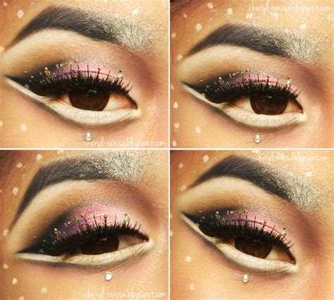 Wardah Glitter Powder makeup collaboration inspired look with inivindy