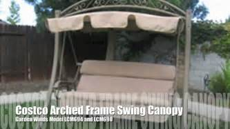 patio swing with canopy costco costco arched frame swing replacement canopy from garden