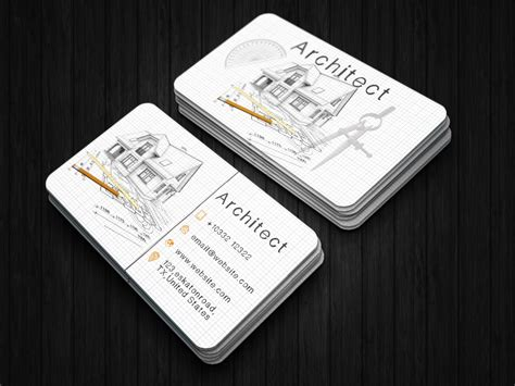 creative architect business card techmix