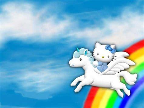 wallpaper hello kitty rainbow blue hello kitty wallpapers wallpaper cave