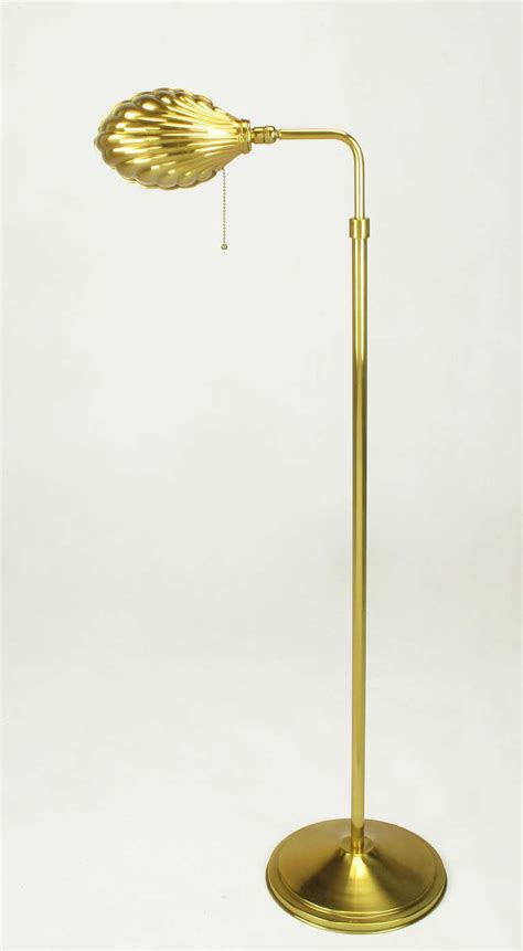 Floor And Home Decor pharmacy style brass shell shade floor lamp at 1stdibs