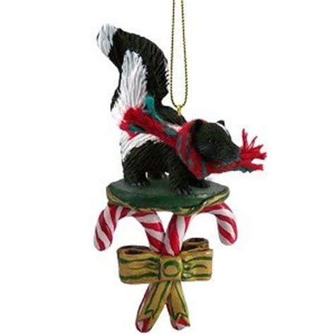 amazon com skunk candy cane christmas ornament