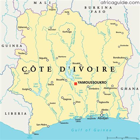 ivory coast map ivory coast cote d ivoire guide