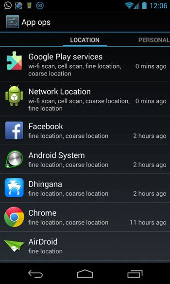 how to change app permissions android how to manage change individual app permissions on android 4 3