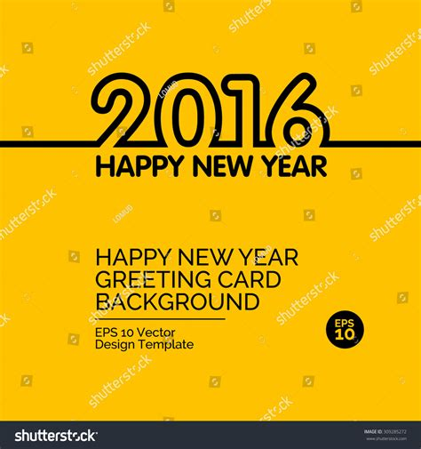 new year background card happy new year 2016 greeting card stock vector 309285272