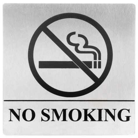 no smoking sign bunnings tablecraft b14 no smoking sign stainless steel 5 quot x 5 quot