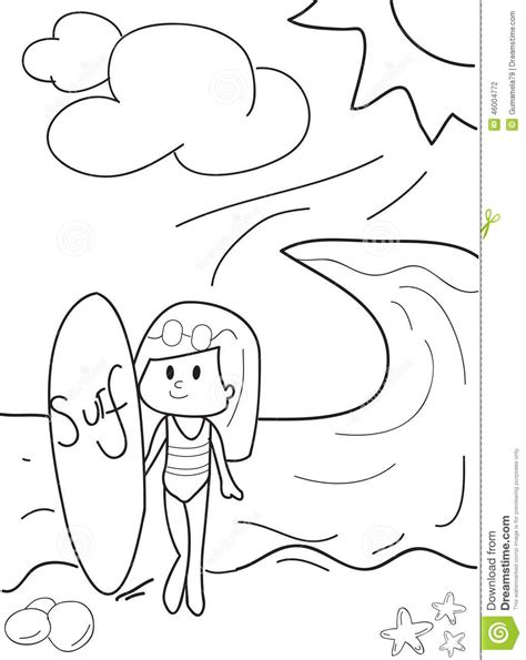 surfing santa coloring page coloring page santa on a surfboard murderthestout