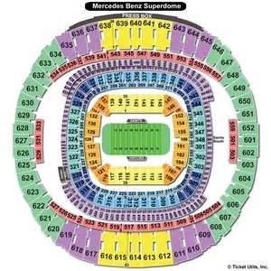 Mercedes Stadium Seating Chart Mercedes Superdome Seating Charts