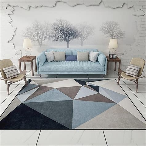modern scandinavian triangles geometric parlor living room