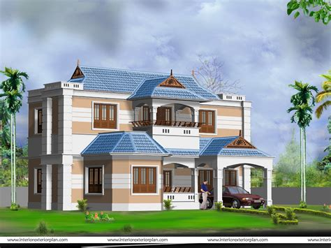 home design models free 3d house plan with the implementation of 3d max modern