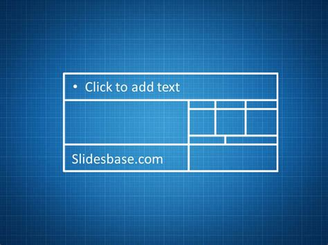 blueprint sketch drawing powerpoint template slidesbase