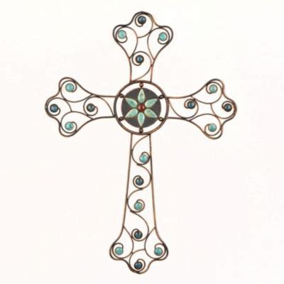 natural turquoise wall cross jesus savior home decor 25 best images about wall art crosses on pinterest