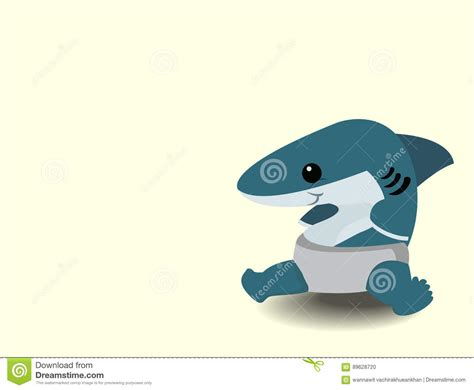 baby shark cartoon cute cartoon baby shark stock vector image of cute
