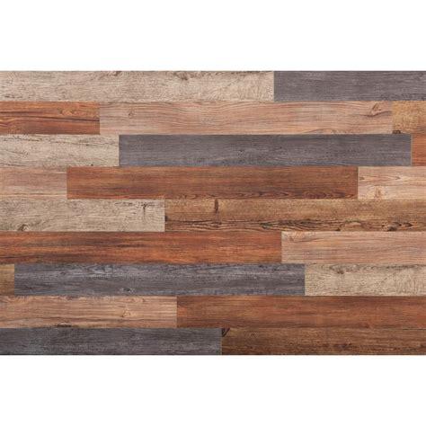 wall assorted     ft peel  press vinyl plank