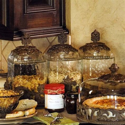 Tuscan Style Kitchen Canisters - the gg collection glass canisters burnished bronze