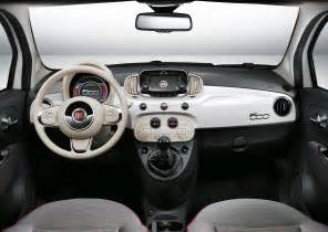 Interior Of Fiat 500 2017 Fiat 500 Facelift Review Specs Release Date