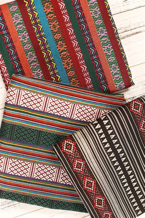 Bohemian Upholstery Fabric by Stripy Bohemian Fabric Upholstery Fabric Tribal Fabric