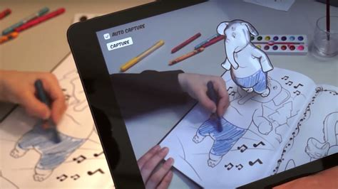 augmented reality research paper disney is using augmented reality to bring coloring books