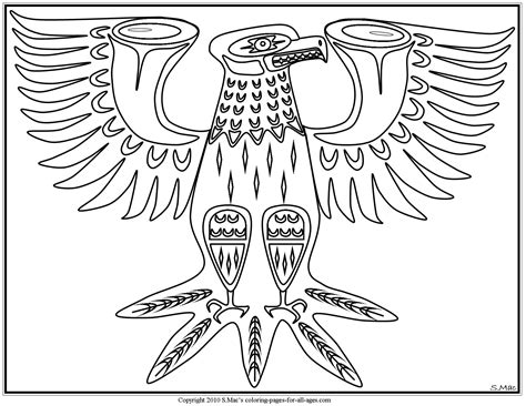 printable native art native american coloring pages